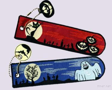 Halloween, Glow In the Dark, Embroidered Bookmarks