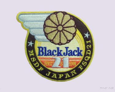 Black Jack Embroidery Patches