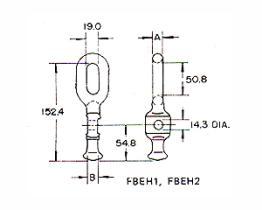 Kugel-Auge für Horn-Halter