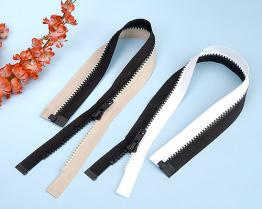 Plastic Molded Two-Tone Open-end Zips TSF-101