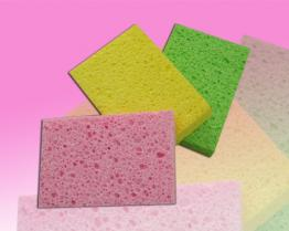 Wood pulp sponge