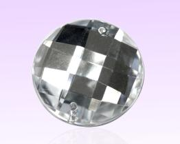 RoundAcrylic Stone With 2 Holes