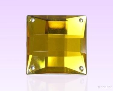 Square Acrylic Diamond With 4 Holes