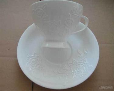 EMBOSSED COFFEE CUP SET.