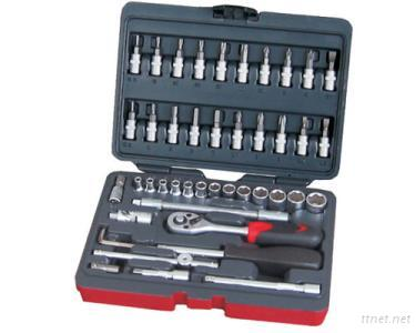 46 Pcs 1/4-Inch Dr. Socket Wrench Set