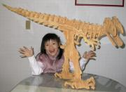 3D Large Wooden-Like Foam Dinosaur Puzzle