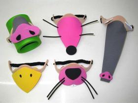 De Uitrustingen van de Ambacht DIY - het Dierlijke Masker van het Schuim