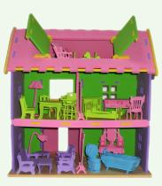 3D Large Foam Villa With Furniture Puzzles