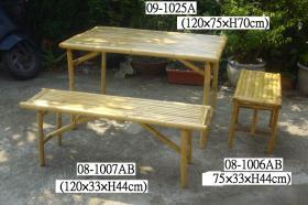 대나무 테이블 및 의자