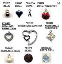 PENDENTS-METAL 의 모조 다이아몬드, 포탄, 고급장교