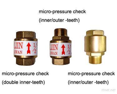 Micro-pressure check