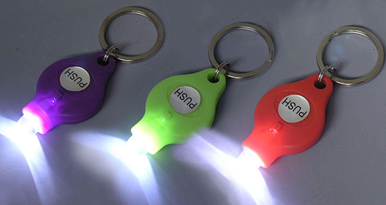O.5W witte LEIDENE Keychain