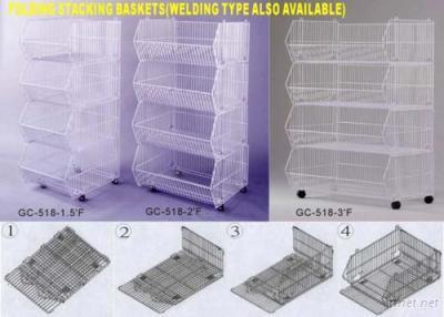 Folding Stacking Baskets
