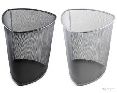 Patented Metal Mesh Triangle Design Trash Cans