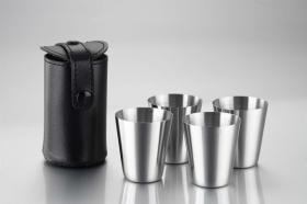 Stainless Steel Wine Cup With Leather Bag