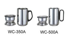 Stainless Steel Double Wall Mug With Strainer 350Ml, 500Ml