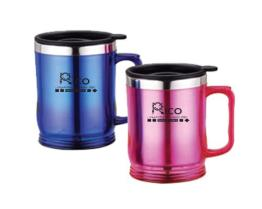 Stainless Steel Auto Mug Red, Blue 15oz
