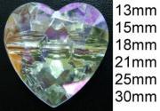 Heart Acrylic Buttons