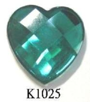 Heart Shape (Flat Back) Acrylic Stone