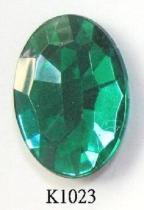 Oval (Flat Back) Acrylic Stone