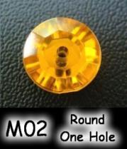 Round One Hole (Sharp Back) Acrylic Stone