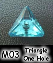 Triangle One Hole (Sharp Back) Acrylic Stone