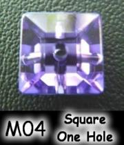 Square One Hole (Sharp Back) Acrylic Stone