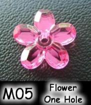 Flower One Hole (Sharp Back) Acrylic Stone