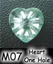 Heart One Hole (Sharp Back) Acrylic Stone