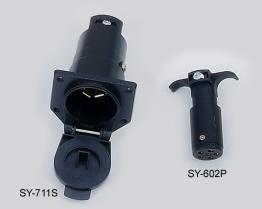 7-Way Einfaßung, Stecker des Plastik6-pole