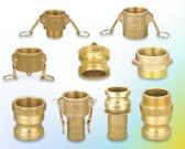 Messing/Bronzenocken-Verschluss und Grooved Koppelung