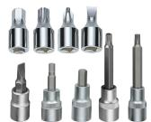Bit Sockets - Phillips, Slotted, Hexagon, Star, Pozidriv, Spline for 1/4