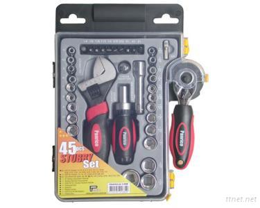 45pcsRatchetScrewdriver&Sockets,BitsSet