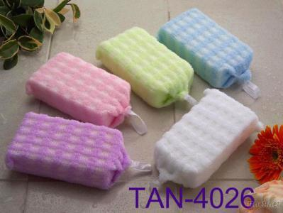 Embossed Checked Bath Sponge