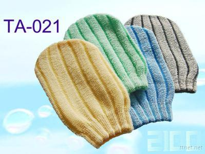 TA-021 Striped Massage Mitt