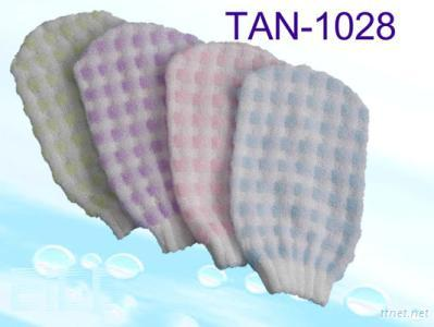 Tan-1028 Embossed Checked Mitt with Assorted Color