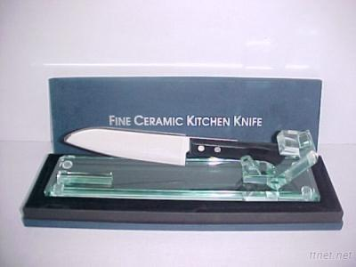 GLASS KITCHEN KNIFE  STAND