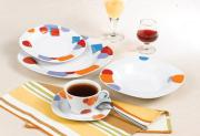 20Pcs Porcelain Dinner Set With Square Shape