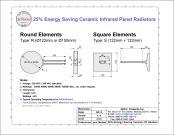 Calefatores infravermelhos cerâmicos de poupança de energia