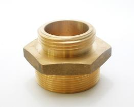 Brass Double Male Hex Nipple, Male to Male Threads
