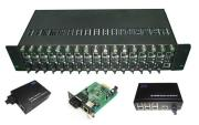 Ethernet-Faser-Optikmittel-Konverter