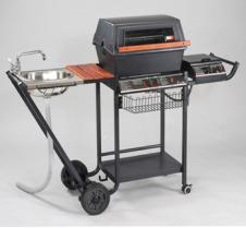 Aluminum Gas Grill with Side Burner & Sink