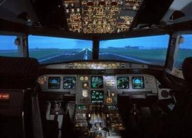 飛行シミュレーションのための大きい背面映写スクリーン