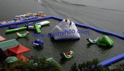 Inflatable Float/Plastic Dock