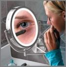 LED Wall Mounted Mirror, Lighted Magnifying Mirror