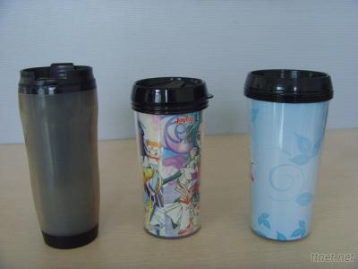 Plastic Double Layer Water Bottle