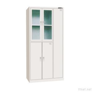 Steel Glass Clothes Cabinet