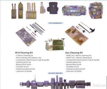 Gun Cleaning Kit Dog Tag Plastic Handcuff