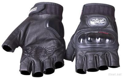 Motorcycle Half Finger Leather Gloves