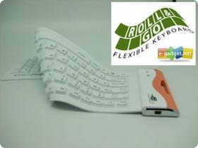 Foldable Flexible Silicone USB Keyboard